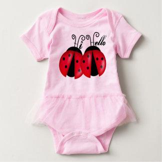 Hi Hello Lady Bugs Baby Bodysuit