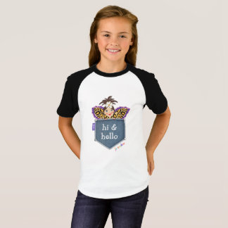 Hi Hello Pocket Fairy Angel Cute Kid's T-Shirt