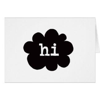 Hi (Hi Hello Greetings) - A7 (Landscape) Card
