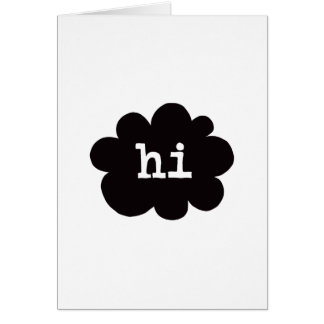 Hi (Hi Hello Greetings) - A7 (Portrait) Card