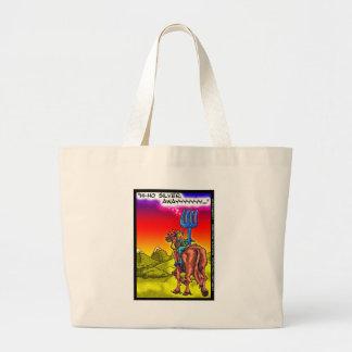 Hi Ho Silver? Fun Lone Ranger Parody Cartoon Gifts Large Tote Bag