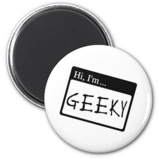 hi i m geeky refrigerator magnet