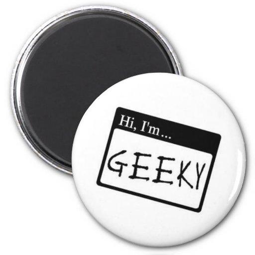 hi i'm geeky refrigerator magnet