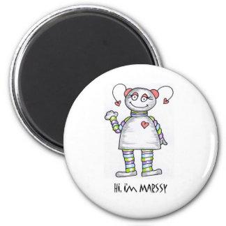 Hi Im Marssy 6 Cm Round Magnet