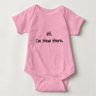 Hi. I'm New Here. Baby Bodysuit