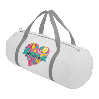 Hi-Lo Travel Gym Bag - Snow White