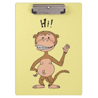 hi monkey bye monkey clipboards