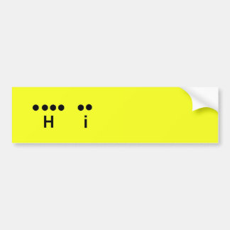"""Hi"" Morse Code Yellow Customize it Bumper Sticker"
