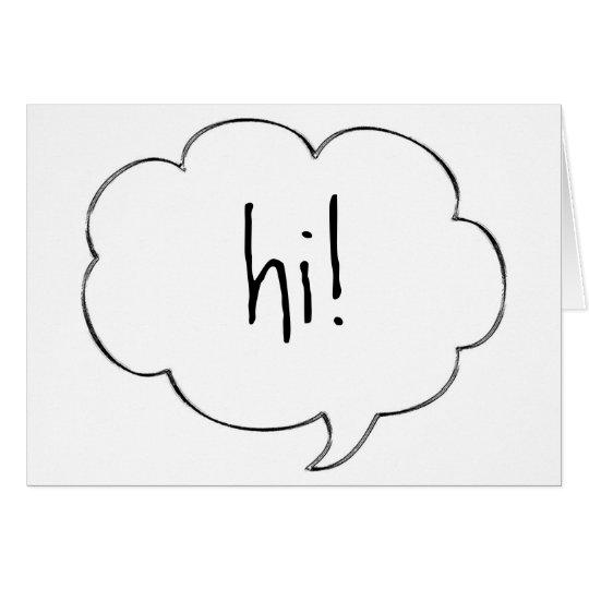 HI! note card