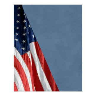 Hi Res COMPACT PHOTO BACKDROP - US Flag on Slate Poster