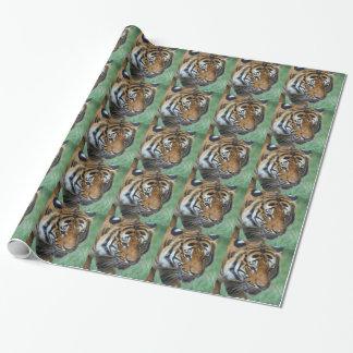 Hi-Res Malay Tiger Close-up Wrapping Paper