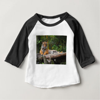 Hi-Res Malay Tiger Lounging on Log Baby T-Shirt