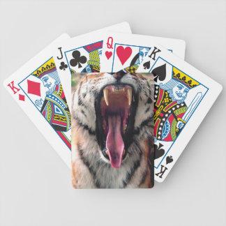 Hi-Res Tiger Bearing Jaws Bicycle Playing Cards