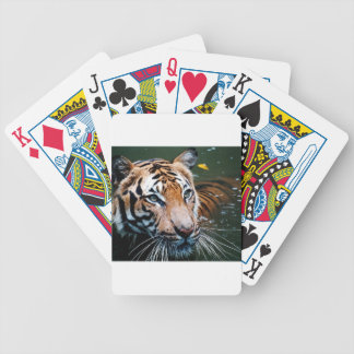 Hi-Res Tiger in Water Bicycle Playing Cards