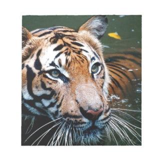 Hi-Res Tiger in Water Notepad