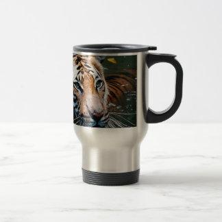 Hi-Res Tiger in Water Travel Mug