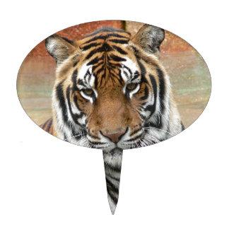 Hi-Res Tigres in Contemplation Cake Picks
