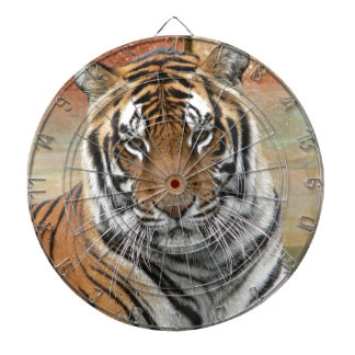 Hi-Res Tigres in Contemplation Dartboard