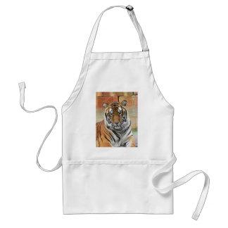 Hi-Res Tigres in Contemplation Standard Apron