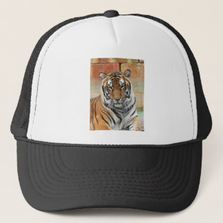 Hi-Res Tigres in Contemplation Trucker Hat
