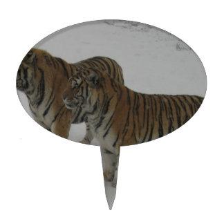 Hi-Res Two Siberian Tigers Cake Pick