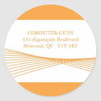 Hi-Tech Business ::: Address Labels Round Sticker