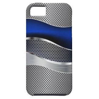 Hi Tech Futuristic Mod Mesh Chrome Sapphire2 iPhone 5 Case