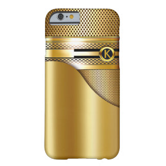 Hi-Tech Monogram Gold Mesh Perforated Metal | gold Barely There iPhone 6 Case