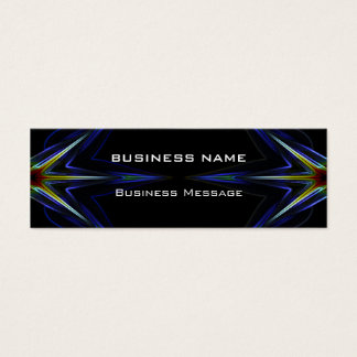 Hi Tech Neon Futuristic Mini Business Card