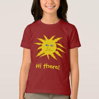 Hi there Cute Friendly Yellow Sun Face Design T-Shirt