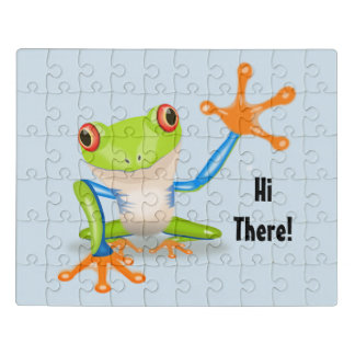 Hi There Frog Jigsaw Puzzle