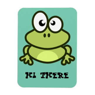 """""""hi there"""" frog photo magnet"""