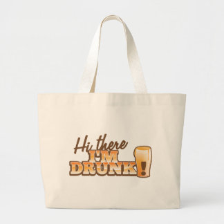 Hi there! I'm DRUNK! from the Beer Shop Jumbo Tote Bag