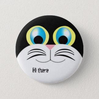 Hi there kitty 6 cm round badge