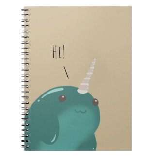 Hi there Narwhal! Spiral Notebook