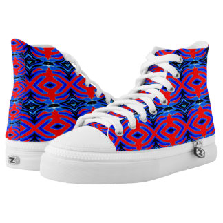 Hi Top Shoes canvas tops, rubber sole, sneakers! Printed Shoes