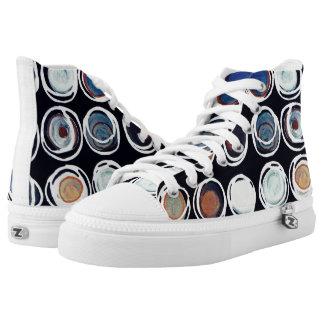 Hi Top Shoes, Metalic Circles
