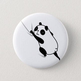 hi tsu being attached panda hittuki-panda 6 cm round badge