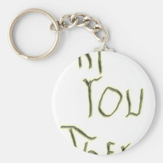 Hi You There glow in the dark Key Ring