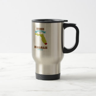 Hialeah, Florida Map – Home Is Where The Heart Is Stainless Steel Travel Mug