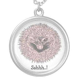 Hibernating Hedgehog Silver Plated Necklace