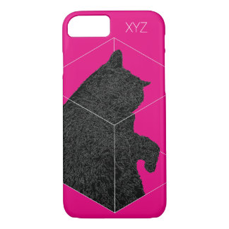 """Hibernation Cat"" iPhone 7 Case: Geometric Polygon iPhone 7 Case"