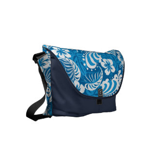 Hibiscus abstract floral courier bag