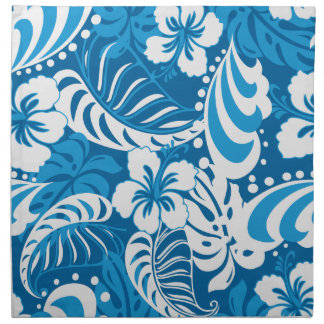 Hibiscus abstract floral napkin