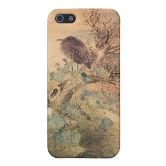 Hibiscus and Blue Heron iPhone 5 Case