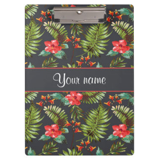 Hibiscus and Palm Fronds Clipboards
