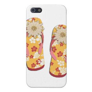 Hibiscus Beaded Flip Flops iPhone 5 Covers