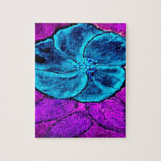 Hibiscus Blues Jigsaw Puzzle