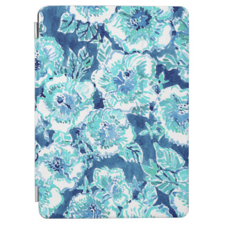HIBISCUS BOUNTY Blue Tropical Hawaiian Floral iPad Air Cover