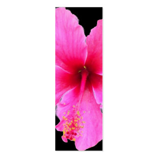 Hibiscus Closeup, Mini Bookmarks Pack Of Skinny Business Cards